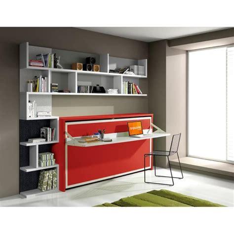 commode bureau escamotable armoire lit escamotable fleet avec bureau 90x190cm achat