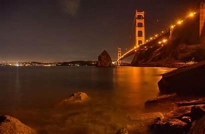 Night Francisco San Bridge During