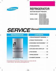 Samsung Rf4287hars Refrigerator Original Service Manual