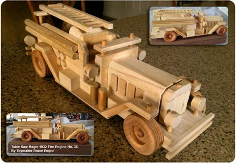 wood fire truck plans  woodworking