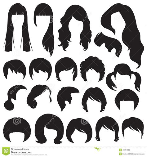 hairstyle stock vector illustration  hairstyles long