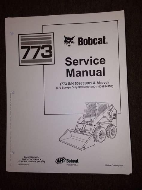 bobcat  service manual book skid steer   finney equipment  parts