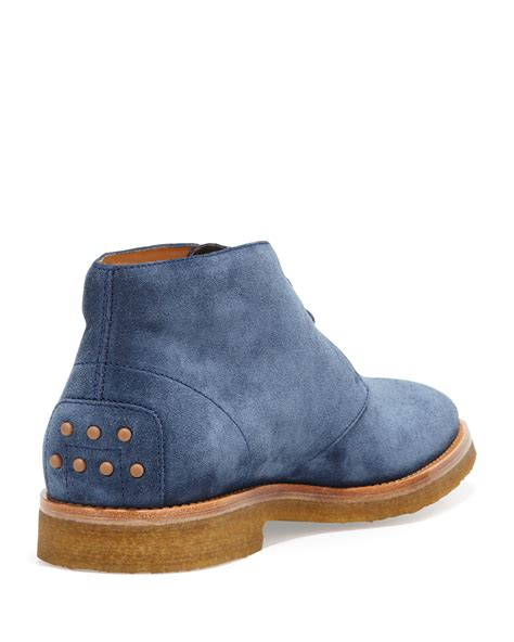 lyst tods mens suede laceup chukka boot blue  blue