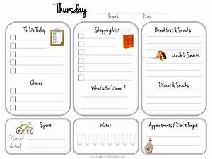 Template For To Do List Daily Planner Template