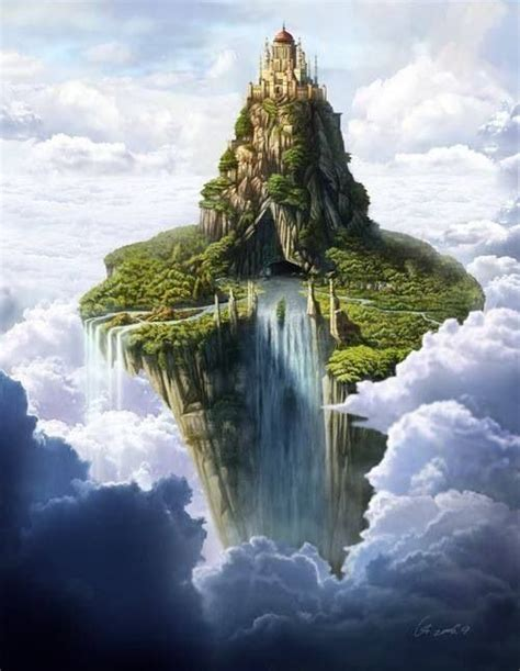 Floating Island Castle in the Sky