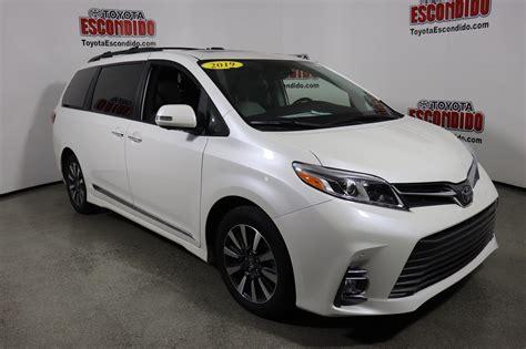 toyota sienna limited premium mini van passenger
