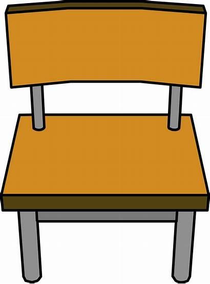 Chair Classroom Desk Clipart Table Penguin Club