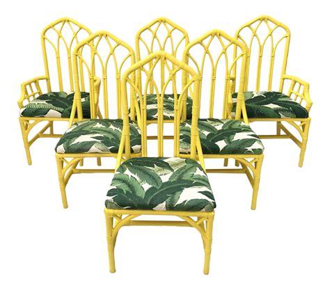 banana leaf rocking chair tropical banana leaf print bamboo rattan dining chairs by