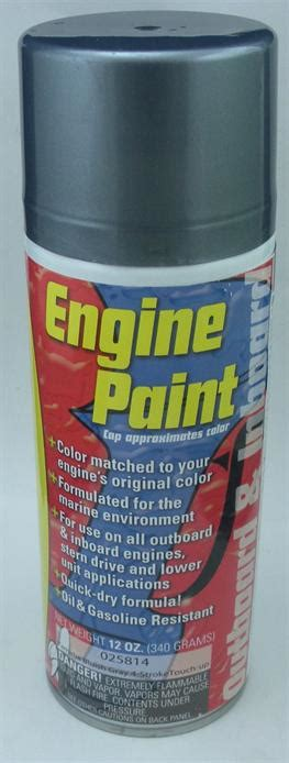 moeller 025814 yamaha blue gray outboard motor paint four