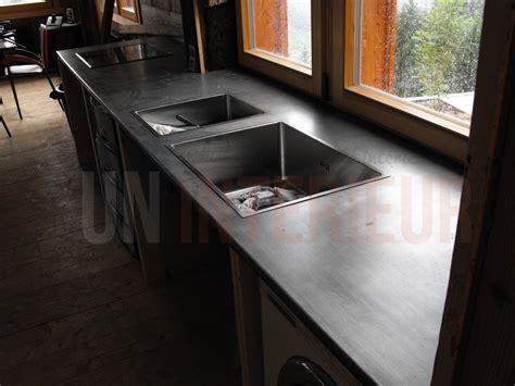 plan de travail en zinc pour cuisine plan en zinc sur mesure evier et plaques