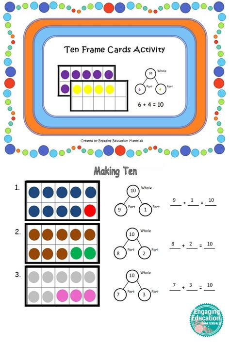 students   ten frame cards  create number