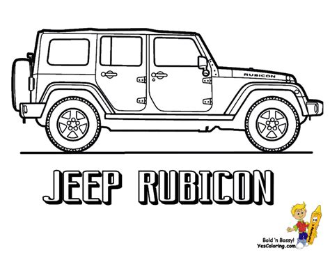 jeep coloring page american pickup truck coloring sheet