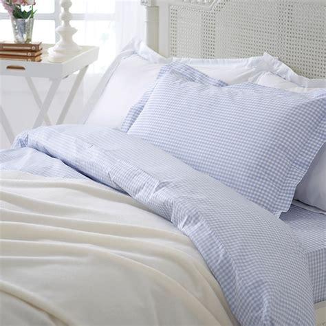 blue gingham bedding home decor
