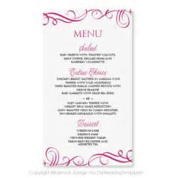 formulation menu mariage modèle de carte menu mariage télécharger par karmakweddings