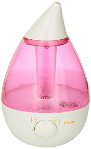 crane drop ultrasonic cool mist humidifier crane drop ultrasonic cool mist humidifier pink white 9507