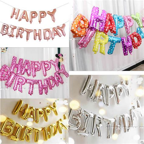 Blow up your balloons using your mouth, an air then, attach them together to make decorations such as a balloon arch, garland, or bunch. LARGE HAPPY BIRTHDAY SELF INFLATING BALLOON BANNER BUNTING PARTY DECORATION F1 | eBay