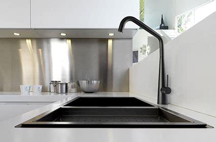 white kitchen black sink elias matt black sink mixer linsol tapware 1327