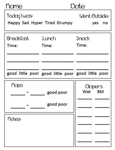 best 25 daycare daily sheets ideas on infant 114 | 49434ae662676ea219130f602b82609a daycare forms home daycare
