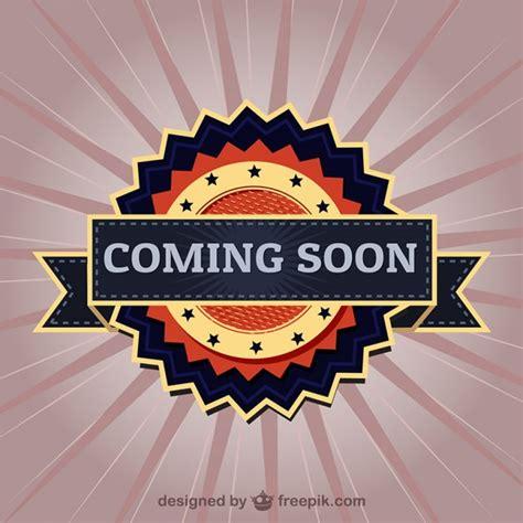 Coming Soon Elegant Label Vector  Free Download