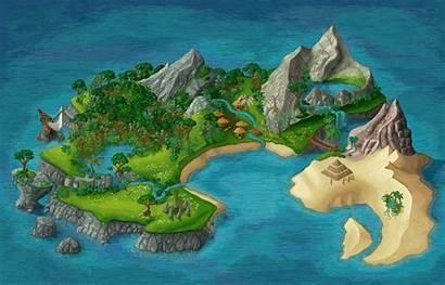 Island Pixel Animated Animation Deviantart Map Drawing
