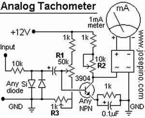tachometer circuit jose pino39s projects and tidbits With tachometer circuit