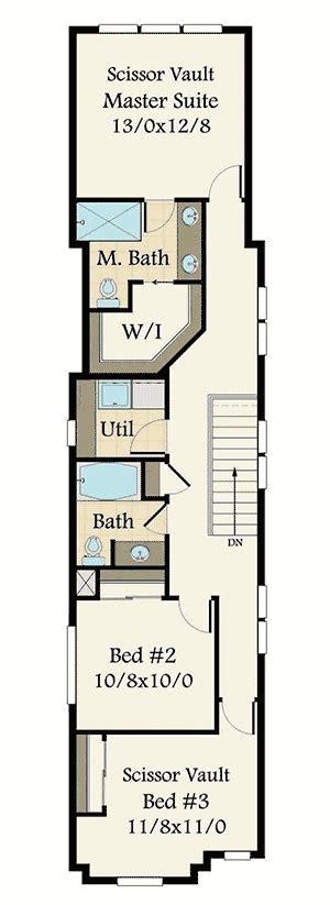 plan ms narrow lot  bed craftsman house plan   car garage narrow lot house plans