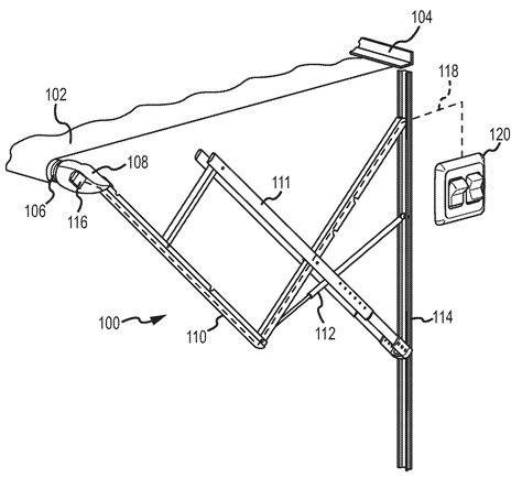 patent  awning control  multidimensional motion sensing google patents
