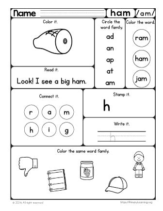 word family hands  pack primarylearningorg