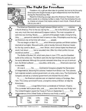 All Worksheets » American Revolution Worksheets