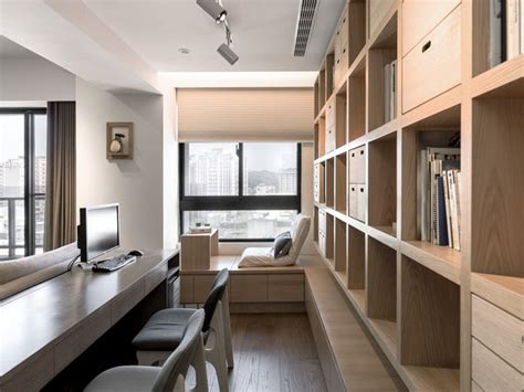a modern apartment celebrates the look of wood