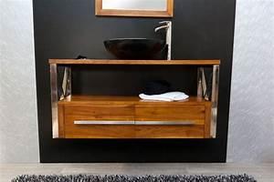 Meuble De Salle De Bain En Teck : meuble salle de bain teck lutece meubles en ~ Edinachiropracticcenter.com Idées de Décoration