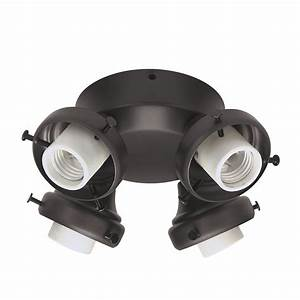 Hunter light new bronze ceiling fan kit at