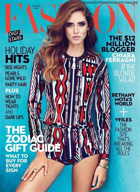 Fashion Magazine (canada) Winter 20152016 Cover (fashion