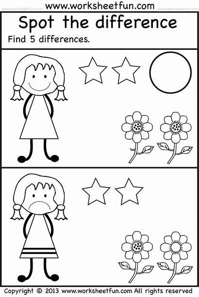 Printable Worksheets Preschool Kindergarten Activities Worksheetfun Spot