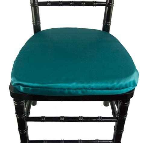 contempo linens chair pad covers satin crepe back turquoise