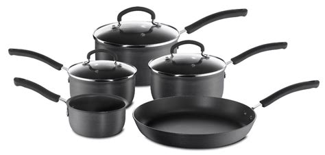 tefal expert cookware set 5 non stick grey saucepan sets pots and pans