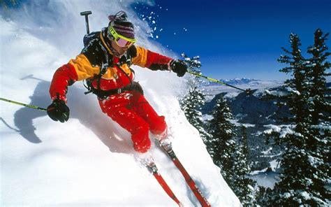 alpine skiing outdoor sports wallpaper  series