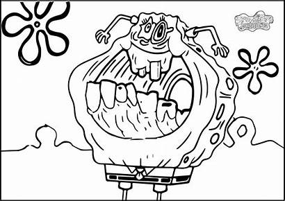 Coloring Pages Creepy Monster Resolution Clown Scary