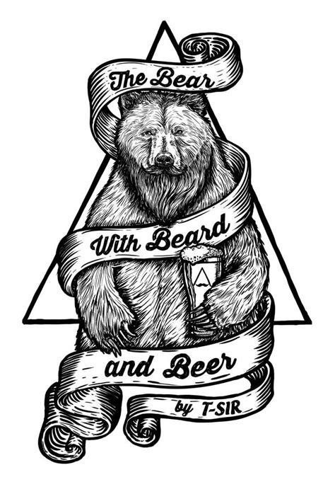 The Bear with Beard and Beer / Oscar Postigo | Tatuajes de osos, Diseños para tatuajes y Arte de