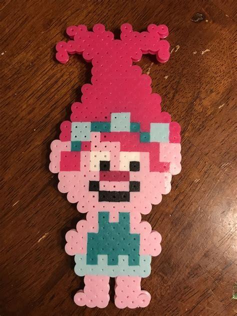 poppy perler beads pattern  trolls  perler bead