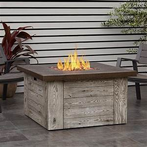Real, Flame, Forest, Ridge, 42-inch, Square, Propane, Fire, Pit, Table, -, Weathered, Gray