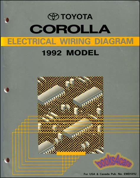 Shop Manual Service Repair Corolla Electrical Wiring