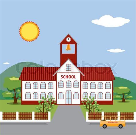 Illustration Of School Building  Stock Vector Colourbox