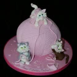 Ball of Yarn and Cat Cake