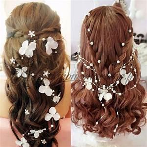 Couronne Fleur Cheveux Mariage : coiffure avec couronne de fleurs accessoire de cheveux pour mariage avec fleur ~ Melissatoandfro.com Idées de Décoration