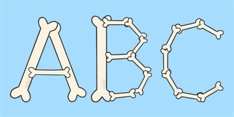 A-z Bone Display Lettering
