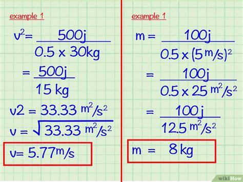 kinetische energie berekenen wikihow