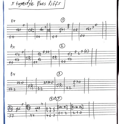 5 Fingerstyle Blues Riffs « LickN'Riff - Create Your Own ...