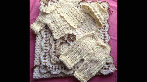 Conjuntos a crochet para bebes YouTube