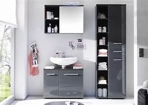 Badezimmer Set Grau : badm bel badezimmer nele 3tlg set in farbe grau ~ Indierocktalk.com Haus und Dekorationen